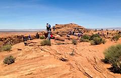 Horseshoe Bend (4 of 6): back at the viewpoint at noon... 20170405_9329 (listorama) Tags: usa arizona horseshoebend people