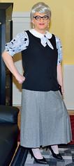 Ingrid024045 (ingrid_bach61) Tags: pleatedskirt faltenrock waistcoat weste blouse bluse mature