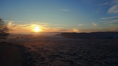 Sun Dog (Daphne-8) Tags: sunrise sonnenaufgang salidadelsol leverdusoleil amanecer morning morgen light licht colours colors farben himmel sky zonsopkomst lucht hemel cielonature landscape landschaft paysage paisaje landschap view aussicht vista lumière luce luz