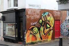 Welcome (chloeharper2) Tags: streetart street art starwars stormtrooper talented artwork road city brighton graffiti photography colour colourful