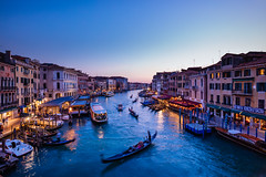High Street (J C Mills Photography) Tags: venice venizia venise grand canal san marco dorsoduro italy water sunset dusk blue hour lights boats gondola traffic landscape waterscape buildings historical venetian rialto bridge ponte pont
