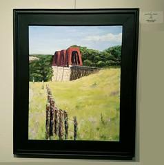 Last Train to Blanco (jefferisp7) Tags: railroad galleryshow oilpainting wimberleyartleague