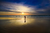 Sunset in Tel-Aviv beach (Lior. L) Tags: sunsetintelavivbeach sunset telaviv beach silhouette reflection clouds telavivbeach israel travelinisrael