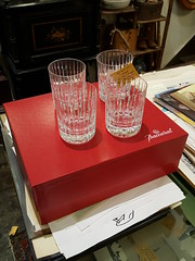 "BACCARAT OLD FASHIONED CRYSTAL GLASSES, SET OF TEN. • <a style=""font-size:0.8em;"" href=""http://www.flickr.com/photos/51721355@N02/33480238315/"" target=""_blank"">View on Flickr</a>"