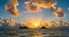 Lanikai Sunrise (j . f o o j) Tags: lanikai lanikaisunrise lanikaibeach hawaii hawaiian sunrise namokulua mokuiki mokunui twinislands nikond610 nikkor50mmf12ais nikkor16mmf28fisheye panorama panoramic pano aloha love