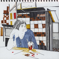 Cafe Microbe (bogema) Tags: cafe sketch moscow clea кафе скетч клеа микроб microbe покровскийбульвар москва