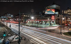 Car Wash (20170324-DSC09485) (Michael.Lee.Pics.NYC) Tags: newyork night longexposure lighttrails traffictrails 12thavenue 46thstreet billboard kong advertisement intrepid museum hellskitchen westside carwash sony a7rm2 fe2470mmf28gm