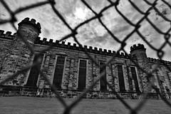 barriers (eb78) Tags: bw blackandwhite monochrome greyscale grayscale appalachia westvirginia wv moundsville prison westvirginiastatepenitentiary abandoned
