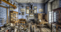 Calke Abbey (7) (Darwinsgift) Tags: calke abbey interior national trust derbyshire nikkor 19mm pc pce f4 mf photostich panorama ed nikon d810 photomatix