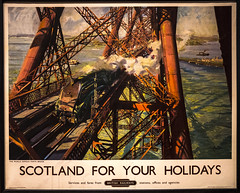 Terence Cuneo (1907-96), Forth Bridge 1952 (Pitheadgear) Tags: oils illustrators goldenplover a4pacific edinburgh scotland museum museums gallery galleries art artists artworks cuneo terencecuneo forthroadbridge railways railway industry industrialarchaeology transport