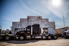 Big Rigs, Small Town (Phil Roeder) Tags: iowa jacksoncounty baldwin trucks semitruck bluesky clouds canon6d canonef24105mmf4lisusm