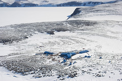 Jang Bogo Station (JeffAmantea) Tags: jang bogo station terra nova bay antarctica antarctic korean korea ice frozen above landscape cold sea blue future new sony alpha sonyalpha a7ii nikon nikkor 50mm 14 metabones