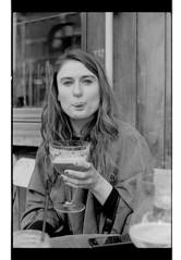 P44-2017-034 (lianefinch) Tags: argentic argentique monochrome blackandwhite blackwhite noirblanc noiretblanc bw portrait people brussels bruxelles belgium belgique belgïe bar bistro troquet