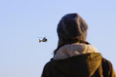 Helicopter Show (CoolMcFlash) Tags: helicopter watching person woman fliying sky canon eos 60d hubschrauber beobachten frau fliegen himmel fotografie photography tamron b008 18270 vienna wien landing landen