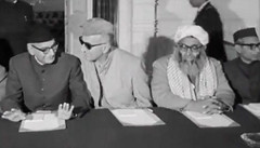 It's all over: Chaudhry Muhammad Ali gestures to Abdul Wali Khan (Doc Kazi) Tags: president ayub khan muhammad pakistan history end regime talks 3 march 1969 all leading politicians except bhutto