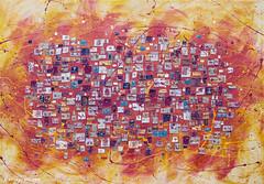cm 170x120_Primavera_Italiana_painting_Anna_Piratti (Anna Piratti) Tags: art visualart fineart painting exhibition acrylic facetoface galeriemariedemange brussels