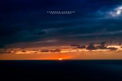 Sunset Tenerife (Andreas Gerber) Tags: andreas gerber sunset tenerife canarie porto cruz spagna espana spain red nuvole cloud clouds sun sole oceano atlantico sea mare water ocean
