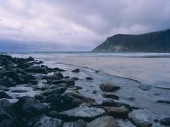 My private Rubicon (JaZ99wro) Tags: 645 e100g e6 f0324 mamiya645protl norway norwegia opticfilm120 tetenal3bathkit analog beach clouds exif4film film rocks water