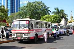 R-989 (KK70088) Tags: bus burma myanmar yangon rangoon daewoo ybs r989