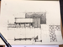 Sketch Sessions 2017 (Dreyfuss + Blackford Architecture) Tags: dreyfuss blackford sketching architecture session sacramento california drawing sketch architects landmark downtown outdoor building 2017 quick draw proportion folsom boulevard