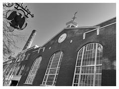 The Old Truman Brewery, Brick Lane. (HistoryLondon) Tags: trumans factorychimney georgianlondon beer brewing brewery bossofbethnalgreen spitalfields clock blackeagle trumanhanburybuxton oldtrumanbrewery bricklane eastend history london
