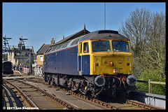 No 47815 9th April 2017 NVR Diesel Gala (Ian Sharman 1963) Tags: no 47815 9th april 2017 nvr diesel gala class 47 duff station engine railway rail railways train trains loco locomotive nene valley wansford rog operations group 47155 47660 yard