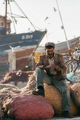 Fisherman, Morocco (David Pinzer) Tags: people portrait travel morocco africa essaouira port harbour street fisher fisherman boat