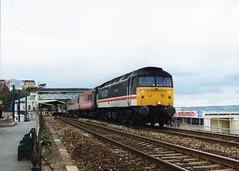 "47840 ""North Star"" (Sparegang) Tags: 4784047077 47613 class47 474 brushtype4 sulzer crsscountrytrains intercitylivery britishrail 1v50 1999 westernregion dawlish"