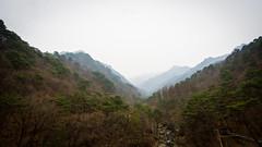 The view of Myohyangsan (Yen L.) Tags: northkorea korea koryo dprk asia communism 조선 조선민주주의인민공화국 朝鮮 北韓 韓 高麗 妙香山 묘향산 myohyangsan