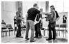 Rehearsal -9 (alh1) Tags: allanharris centralmethodistchurchhall niksilverefexpro pilottheatre thesuffragetteproject yorktheatreroyal readthroughrehearsal eipyork 08042017 bw england northyorkshire york actors choice monochrome
