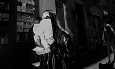 Hide and seek!! (Baz 120) Tags: candid candidstreet candidportrait city candidface candidphotography contrast street streetphoto streetcandid streetphotography streetphotograph streetportrait rome roma romepeople romestreets romecandid europe monochrome monotone mono blackandwhite bw noiretblanc urban voightlander12mmasph life leicam8 leica primelens portrait people unposed italy italia grittystreetphotography flashstreetphotography flash faces decisivemoment strangers