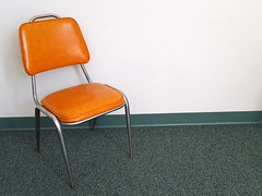 108/365 Back To The 60's (Helen Orozco) Tags: 2017365 retro chair orange vinyl vintage twentiethcentury one seat