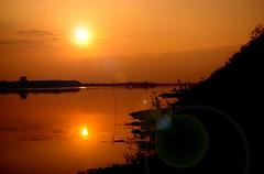 Sundown (Film) (tsuping.liu) Tags: outdoor organicpatttern landscape lighting lake sky serene sun refrection silhouette dusk depthoffield sunset colorofsky feeling moment mood nature natureselegantshots naturesfinest ecology ecotour exquisitesunsets