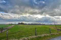Deichlandschaft am St.Jooster Groden / Landkreis Friesland (berndwhv) Tags: deutschland norddeutschland niedersachsen landkreisfriesland wangerland stjoostergroden landschaft deichlandschaft landscape landschap paysage himmel wolken sky clouds deich groden