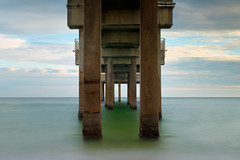 Essence (cylynex) Tags: alabama pier orangebeach al beach waves sunset sunsetoverwater longexposure travel santocommarato