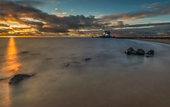 The Lighthouse (mcalma68) Tags: marken netherlands lake seascape lighthouse clouds sunrise long exposure
