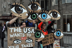 eyes (greenelent) Tags: notrump art politics taxday protest demonstration streets nyc people 365 photoaday