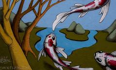nishikigoi (Greg Rohan) Tags: streetart graffitiart graffiti graff koi sydney newtown paintedstreetwalls paintedstreetart spraypaintart spraycanart aerosolart urbanphotography urbangraffiti urbanwalls urbanart urban artist artwork art arte 2017 d7200