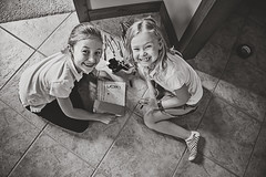 365 Project - April 20 (lupe1515) Tags: 365 project bw olivia hannah pet cat litterbox together creative