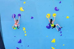 POP_8046 (Philip Osborne Photography) Tags: nationalwhitewatercenter charlotte nc tuckfest womensdeepwater rock climbers pro woman shorts sports bra athletic active ponytail falling kyracondie alexjohnson biminihorstman deepwatersolo climbing 2017