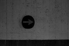 Arrow (Giulia Gasparoni) Tags: arrow street road sign city life citylife roadsign car cars black white blackandwhite blackwhite monochrome grunge vintage retro old minimalism photography