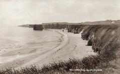Marsden Bay Rock & Grotto (SouthShieldsPostcards) Tags: marsden bay rock stack sea postcard south shields old photo photograph sand beach cliffs grotto