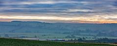 Misty morning Meridian (Peter Leigh50) Tags: harringworth meridian railway train mist morning field landscape uk rural