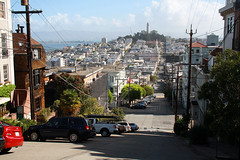 Filbert Street looking east to the Coit Tower - San Francisco 2016 (anorakin) Tags: filbertstreet coittower sanfrancisco 2016