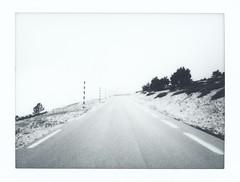 Instax Monochrome: Ventoux 1/3 (Jorn Straten) Tags: ventoux france instax mini roads mountain paca fujifilm instant polaroid monochrome