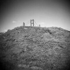 Golden Gate #3 (LowerDarnley) Tags: holga sanfrancisco california goldengatebridge mound view perspective presidio