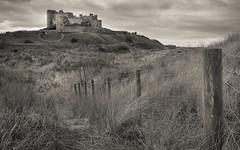 Path to Bamburgh Castle (S.R.Murphy) Tags: april2017 bamburgh bamburghcastle fuji1855mm landscape sea fujifilmxt2 seascape fujifilmxf1855mm monochrome mono northumberland