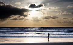 It's a Big World (ebhenders) Tags: ocean sky sun rays oregon arcadia beach water clouds silhouette waves coast