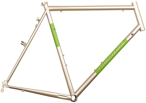 <p>Waterford 14-Series Cross Bike in Sterling Silver with WIllow Green Panels.</p>