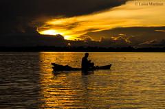 . (Luisa Martinez G.) Tags: travel viaje sunset atardecer amazon colombia photojournalism documentary explore pescador amazonas documental amazonie suramrica